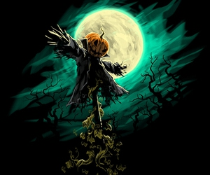 creepy, night, and scarecrow image