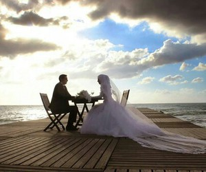 love, couple, and muslim image