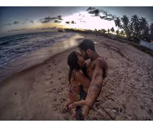 beach, kissing, and gopro image