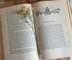 book, flower, and fairytale image
