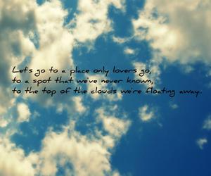 away, clouds, and quote image