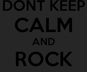 black, keepcalm, and rock image