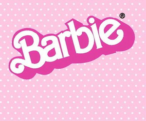 pink, barbie, and wallpaper image