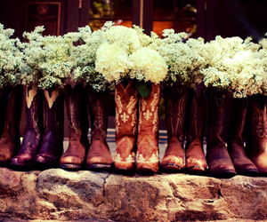 cowboy boots, wedding, and southern wedding image