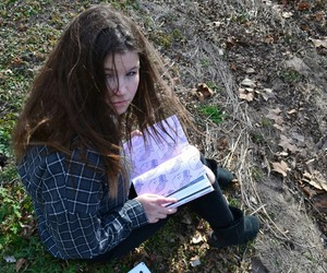 book, fall, and ground image