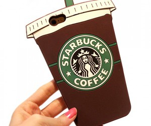 coffee, starbucks, and iphone case image