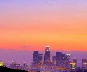 city, sunset, and beautiful image