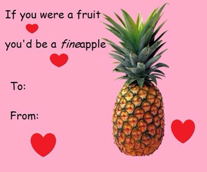 pineapple, valentine, and funny image