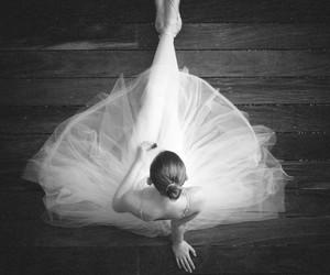 black white ballerina image