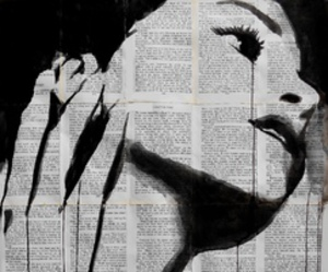 black, loui jover, and news paper image