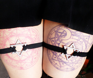 tattoo and sakura card captor image