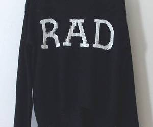 rad, sweater, and fashion image