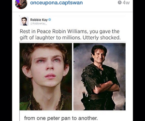 once upon a time, peter pan, and robin williams image