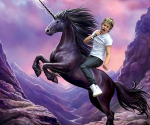 niall horan, unicorn, and one direction image