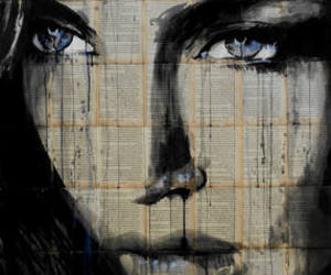 news paper, painting, and portrait image