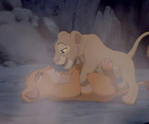 simba, love, and disney image
