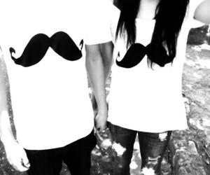 boy, girl, and mustache image