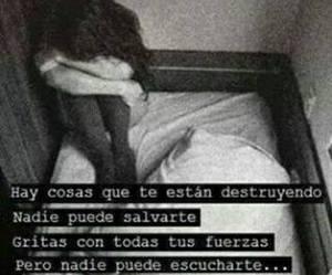 frases, frases en español, and depresion image