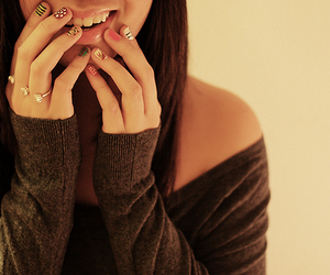 girl, nails, and smile image