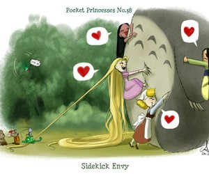 disney, totoro, and pocket princesses image