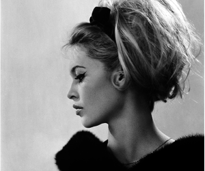 brigitte bardot, hair, and black and white image