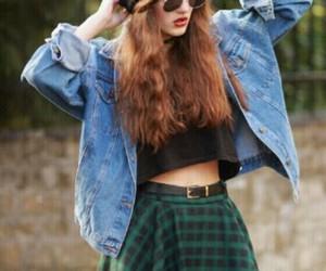 grunge, skirt, and denim jacket image