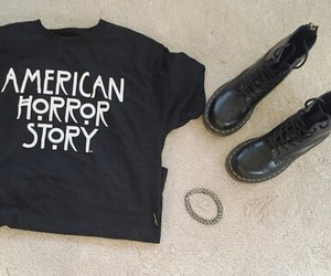 black, grunge, and ahs image