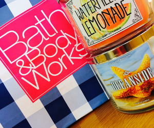 candles, bath & body works, and girly image