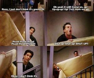 funny, serie, and rossgeller image