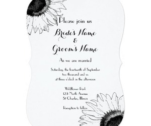 black, black and white, and invitations image