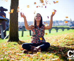 autumn, leaves, and senior portraits image