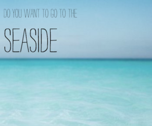 seaside, summer, and text image