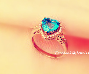 blue, heart, and jewelry image