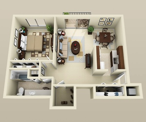 house, room, and top view image
