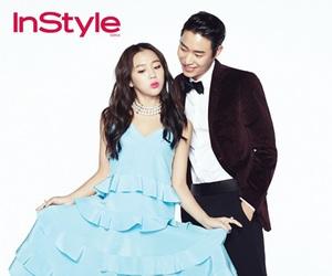 blue dress, couple, and kim yewon image