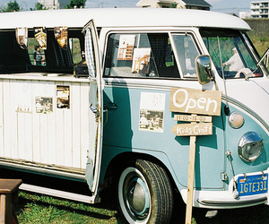 car, vintage, and van image
