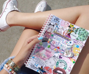 tumblr, converse, and notebook image