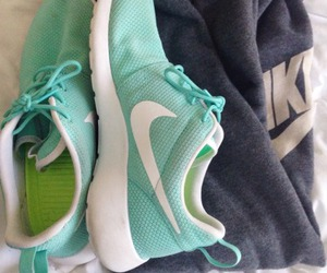 nike, blue, and sports image