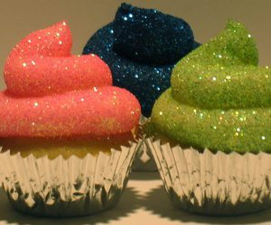 cupcake, glitter, and blue image