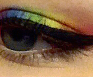 colour, love, and eyeshadow image