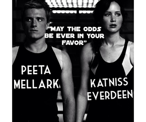katniss, hunger games, and peeta mellark image