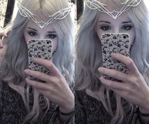 alt girl, kawaii, and white hair image