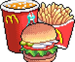 food, pixel, and McDonalds image