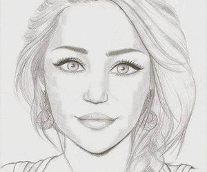 dibujo, young, and miley cyrus image