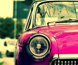 car, comfortable, and pink image