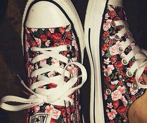 flowers, fashion, and converse image