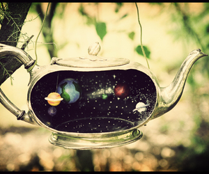 vintage, planet, and teapot image