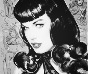 Bettie Page and rockabilly image