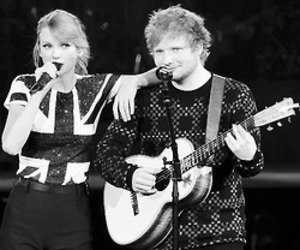 Taylor Swift, ed sheeran, and live image