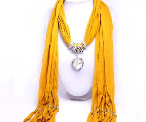necklace, scarf, and pendal necklace image
